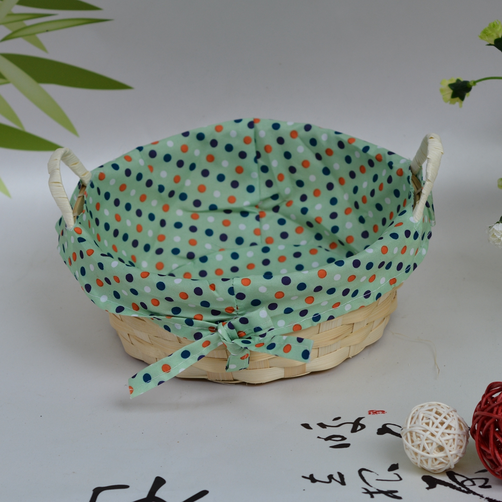 Handmade With Lining Bamboo Easter Egg Basket