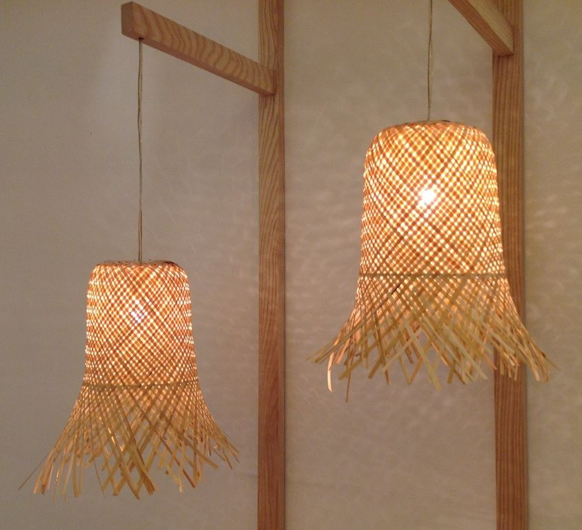 Hand-woven Bamboo Hanging Lamps