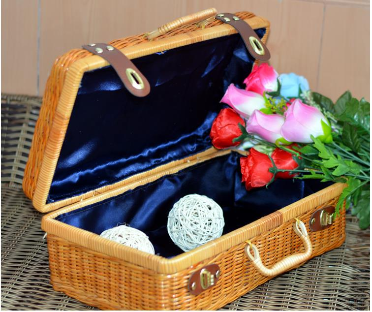 Wholesale Beautiful PP Rattan Storage Box For Sundries