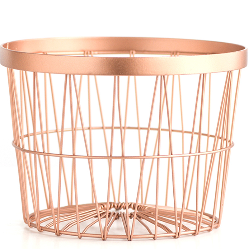 Round makeup basket